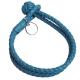 BOTTEGA VENETA 手工雙圈編織小羊皮手環(藍綠) product thumbnail 1