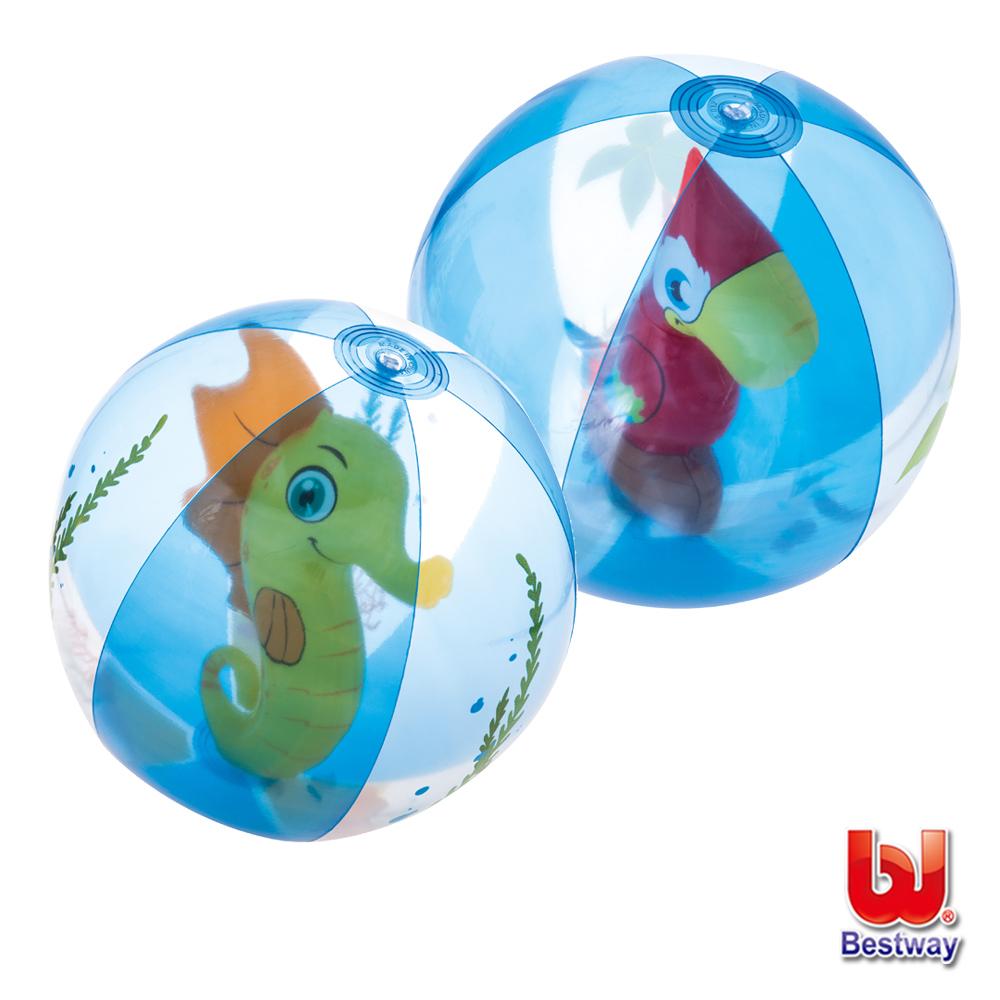 《凡太奇》Bestway。20吋可愛動物充氣球/水球-海馬/鸚鵡(隨機出貨)-快速到貨