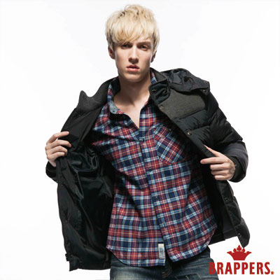 BRAPPERS 男款 男用舒適單口袋襯衫-藍