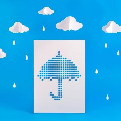 LAGO 像素密碼海報-寶貝藍