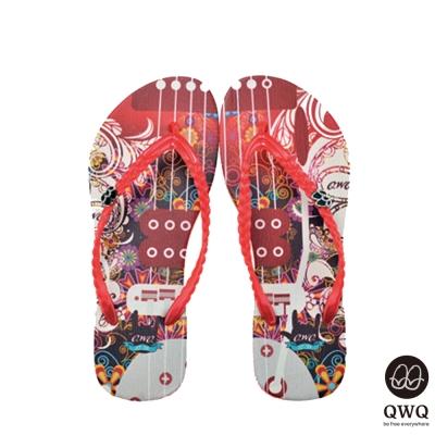 QWQ夾拖的創意(女)-玹的律動夾腳拖-紅