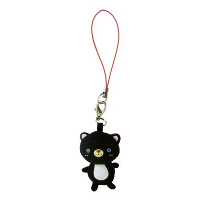 UNIQUE 動物樂園迷你公仔吊飾。小黑貓