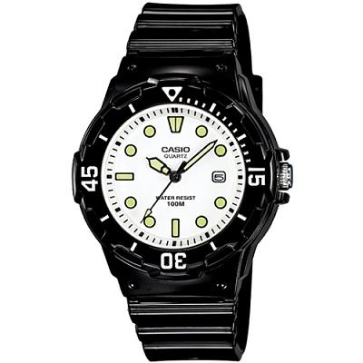 CASIO 魅力潛水風格型女腕錶(LRW-200H-7E1)-白面/點狀刻度/34.2mm