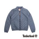 Timberland 女款深藍色素面菱紋休閒外套