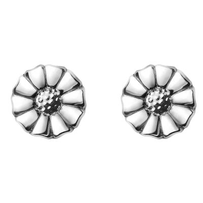 GEORG JENSEN-DAISY 純銀鍍銠耳環