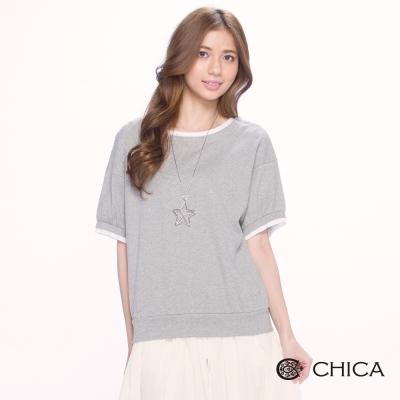 CHICA 甜美復古蕾絲襯邊設計上衣(2色)