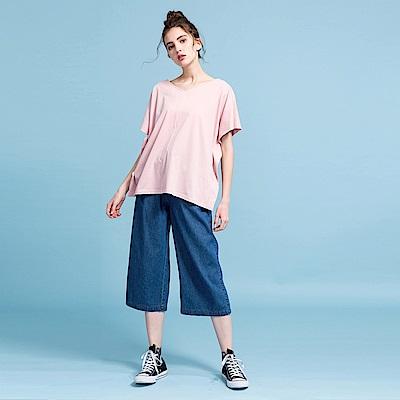 CACO-大口袋牛仔寬褲-女【PSH104】
