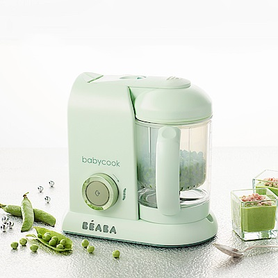 奇哥BEABA BabyCook Solo嬰幼兒副食品調理機-馬卡龍綠