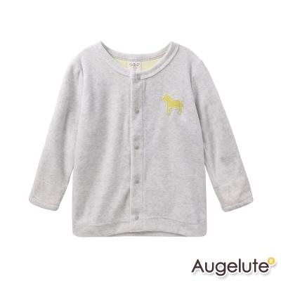 baby童衣-外套-絨布小馬刺繡開襟罩衫47036