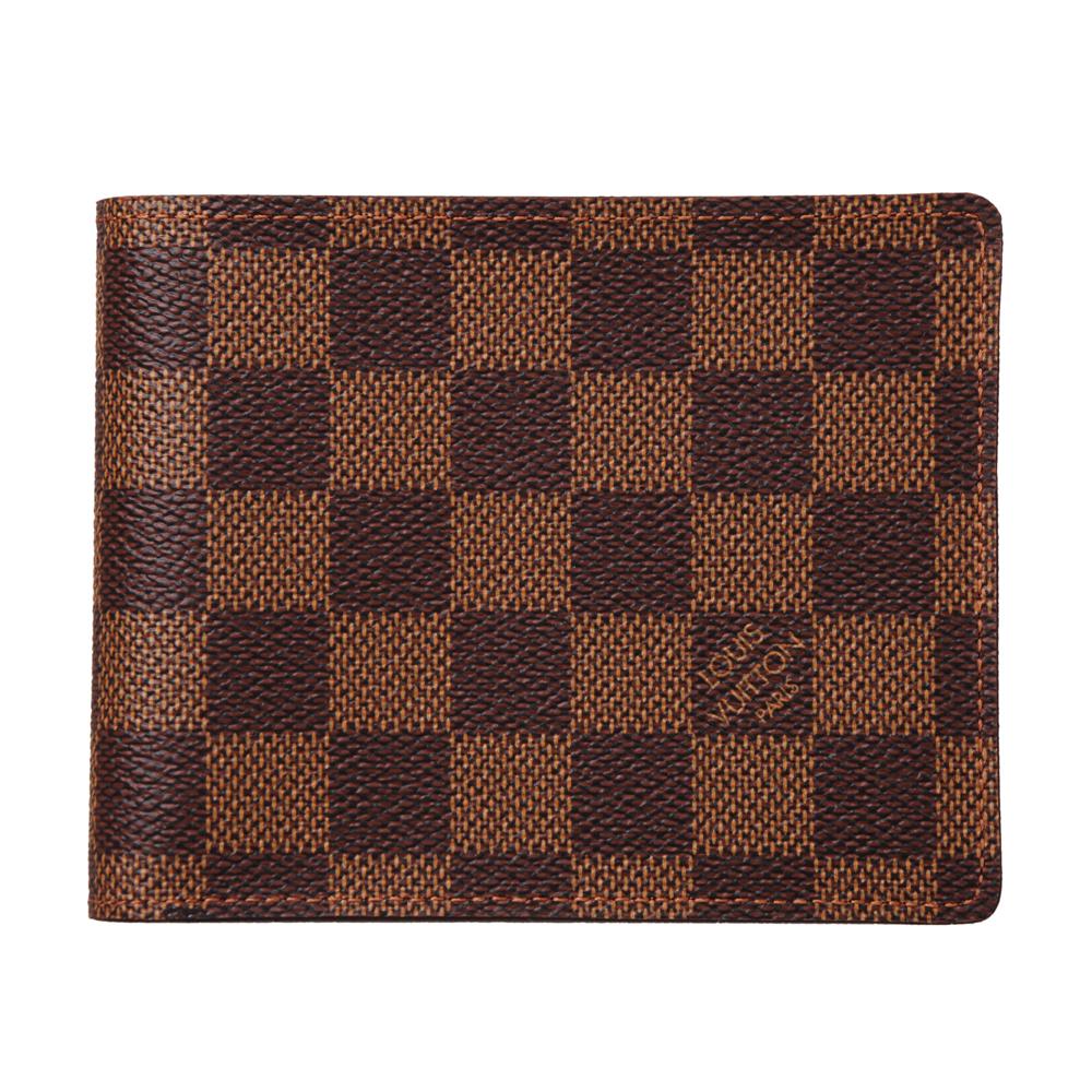 LV【N60011】經典棋盤格相片零錢包鈔票信用卡短夾