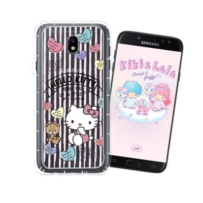HELLO KITTY Samsung J7 Pro J730 氣墊空壓殼(愛心...