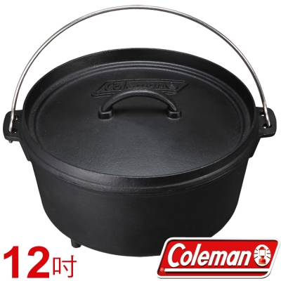 Coleman 9391 12吋 SF荷蘭鍋/鑄鐵燉煮鍋 公司貨 可當煎炒鍋/深型煎