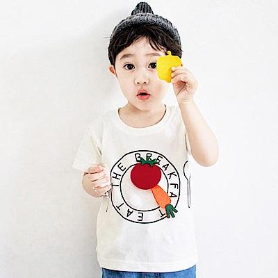 Baby unicorn 白色可拆式食物短袖上衣