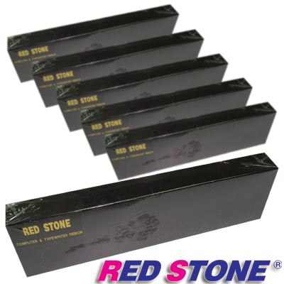 RED STONE for YE-DATA YD4100/YD4400黑色色帶組(1組6入)