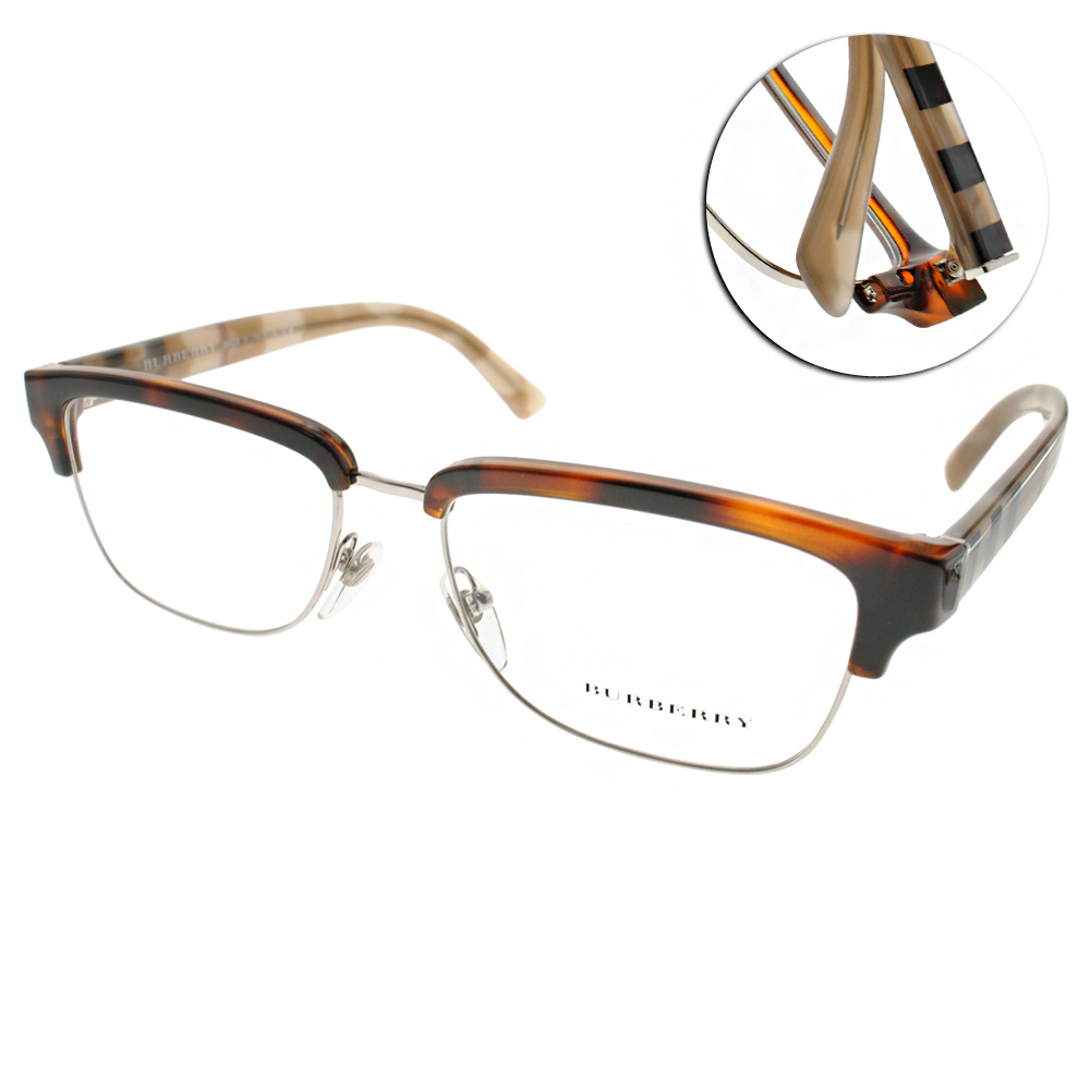 BURBERRY眼鏡 沉穩眉框/琥珀#BU2224 3601