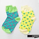 H:CONNECT 韓國品牌 繽紛波點中筒襪-綠