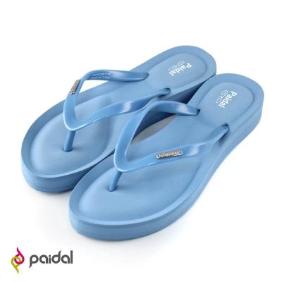 Paidal 氣墊美型夾腳拖鞋-淺藍
