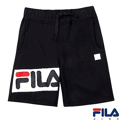 FILA KIDS #東京企劃 針織短褲-黑1SHS-4455-BK