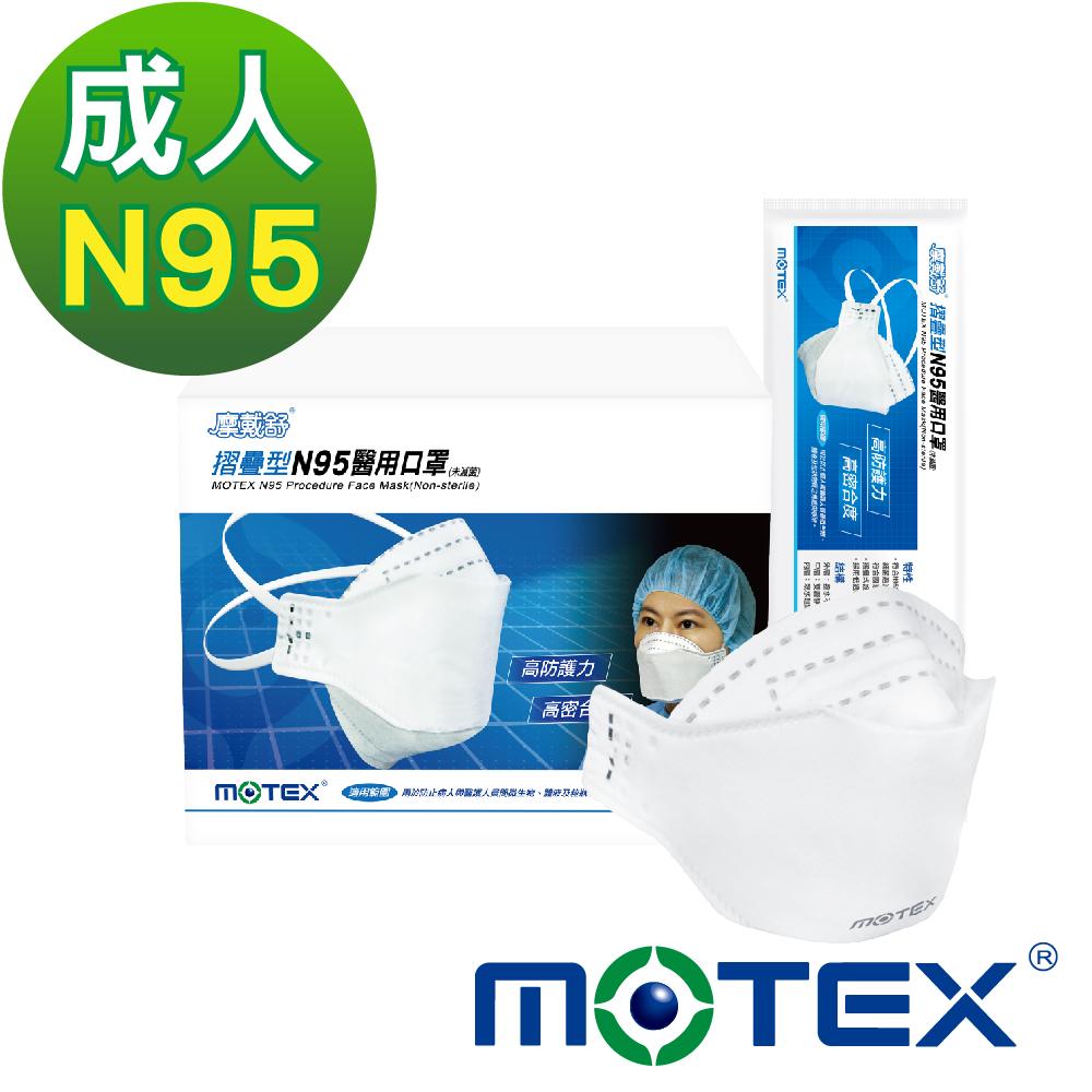 摩戴舒 N95醫用口罩(未滅菌)-摺疊型(20包/盒)