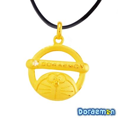 甜蜜約定 Doraemon 躲貓貓哆啦A夢黃金墜子 送項鍊