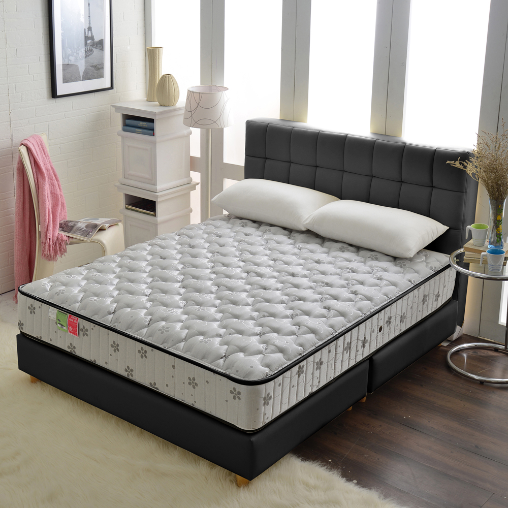 MG飯店雲端-竹碳紗硬式獨立筒床組-雙人5尺
