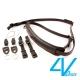 義大利4V LUSSO-SLIM系列相機背帶SP01B-VV0909-黑/黑色(S) product thumbnail 1