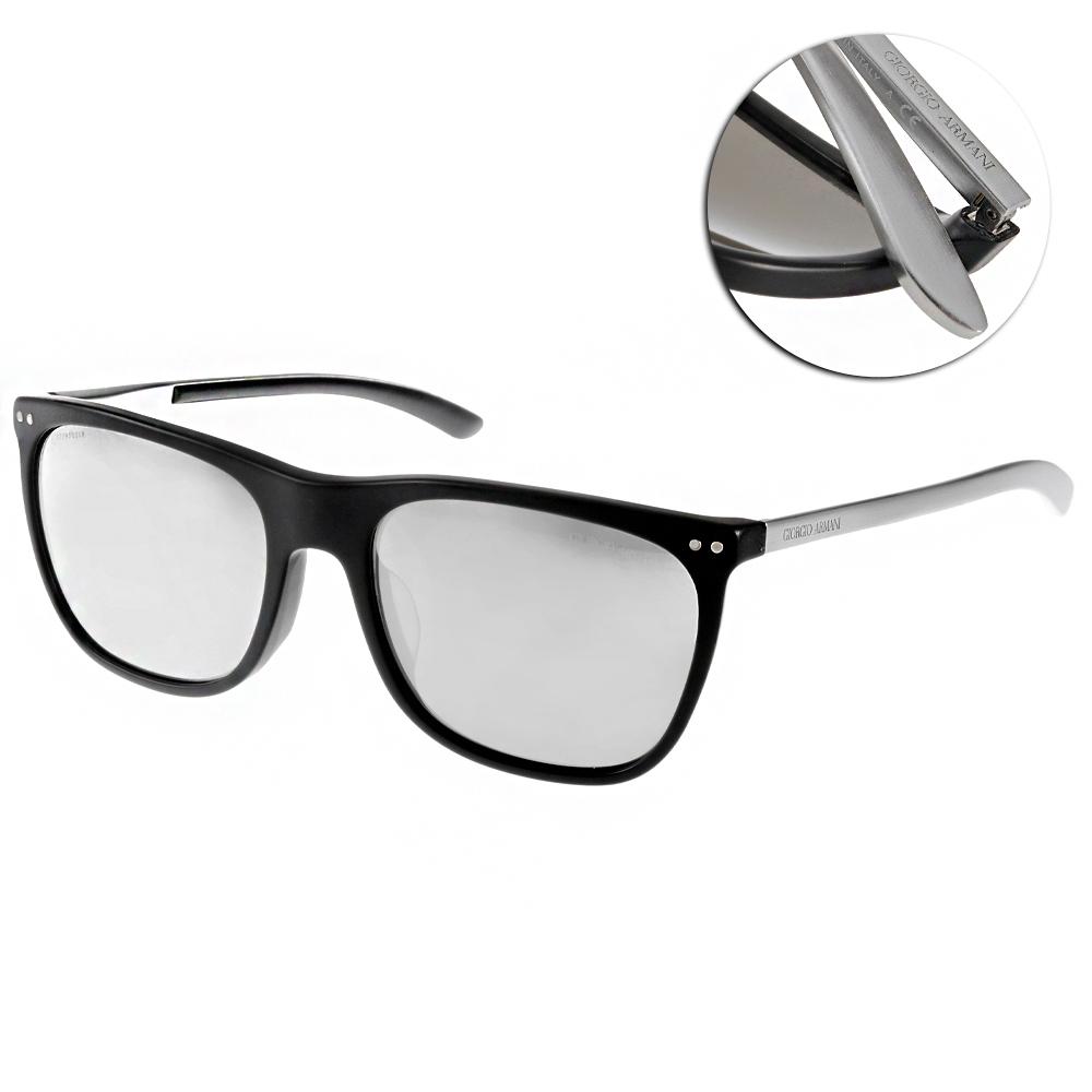 GIORGIO ARMANI太陽眼鏡 義式時尚/黑-水銀#GA8048QF 50426G