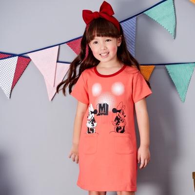 Disney 米妮系列閃閃口袋洋裝 (共2色)