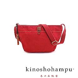 kinoshohampu 經典帆布系列簡約斜肩背梯形包 紅