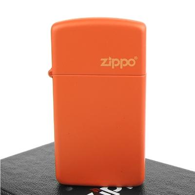 【ZIPPO】美系~LOGO字樣打火機~ORANGE MATTE橘色烤漆