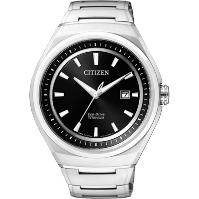 CITIZEN ECO-Drive 超級鈦都會時尚腕錶(AW1251-51E)-黑/43mm