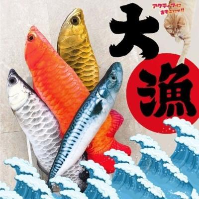 寵喵樂 新鮮魚濩仿真造型貓薄荷玩具(大)
