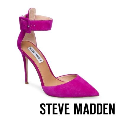 STEVE MADDEN-DESIRE 踝帶尖頭高跟鞋-絨紫