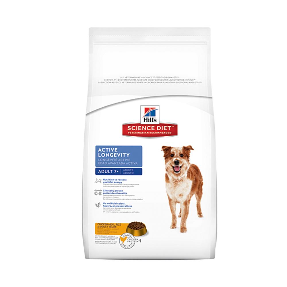【希爾思Hills】7歲以上成犬活力長壽-雞米與大麥配方9.75kg