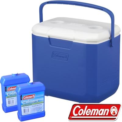 Coleman 27861_海洋藍 28L Excursion行動冰箱+冷媒*2 公司貨保