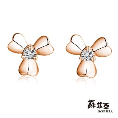蘇菲亞SOPHIA 鑽石耳環-愛的花語玫瑰金鑽石耳環