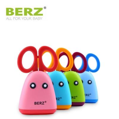BERZ 英國貝氏不鏽鋼兒童副食品剪刀組 粉藍