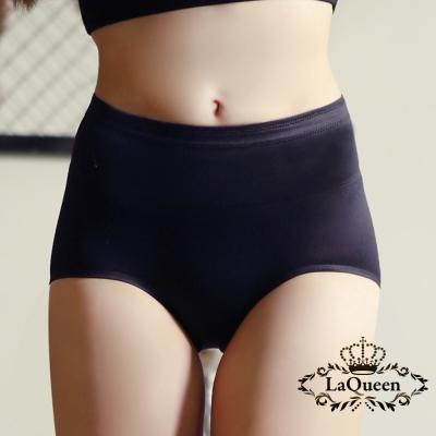內褲  素面簡約無痕蠶絲內褲-黑 La Queen