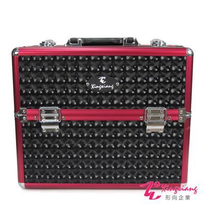Xingxiang形向 黑焰菱格手提精緻輕盈化妝箱 6K-13