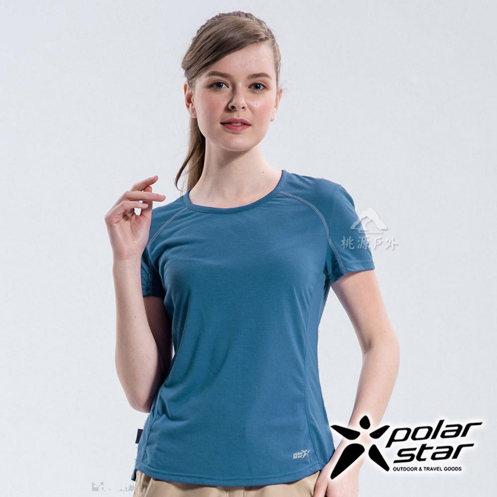 PolarStar 女 排汗快乾圓領T恤『藍』P18134