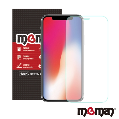 Mgman iPhone X 9H鋼化玻璃5D全透明滿版保護貼
