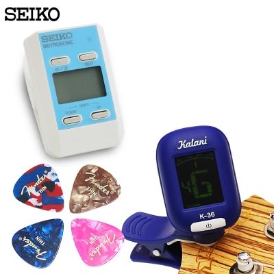 調音器/節拍器/PICK 超值三件組-藍色組合