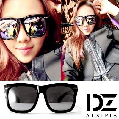 DZ 時髦橫菱釘 抗UV太陽眼鏡造型墨鏡(水銀膜)