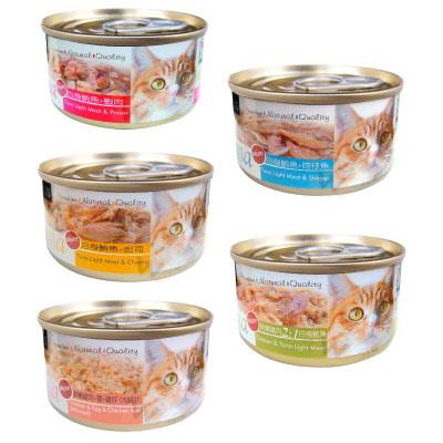 聖萊西Seeds TUNA 愛貓天然食 70g 隨機混搭 96罐組