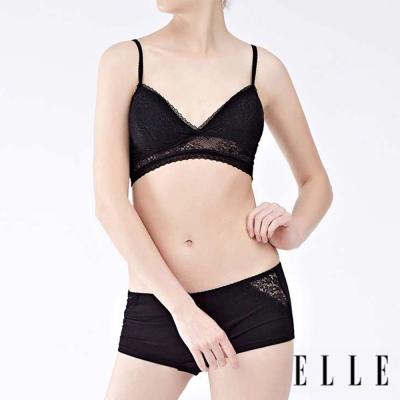 ELLE細肩帶蕾絲抹胸內衣-巴黎之夜/BELLEDE E38165-BK