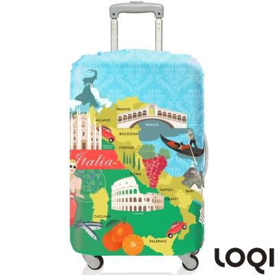 LOQI 行李箱套│義大利M號 適用22-27吋行李箱保護套