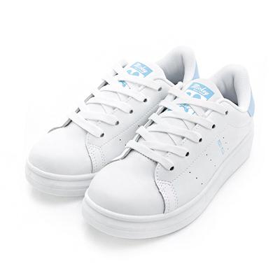 DISNEY-沁甜戀曲-簡約厚底綁帶休閒鞋-白藍