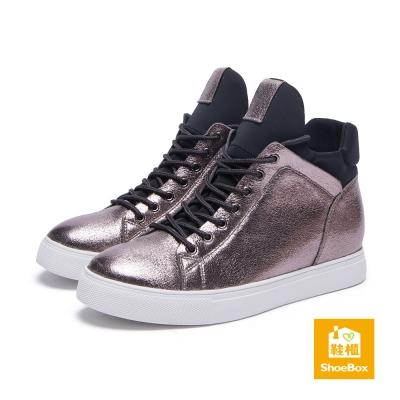 達芙妮DAPHNE-ShoeBox系列-休閒鞋-金