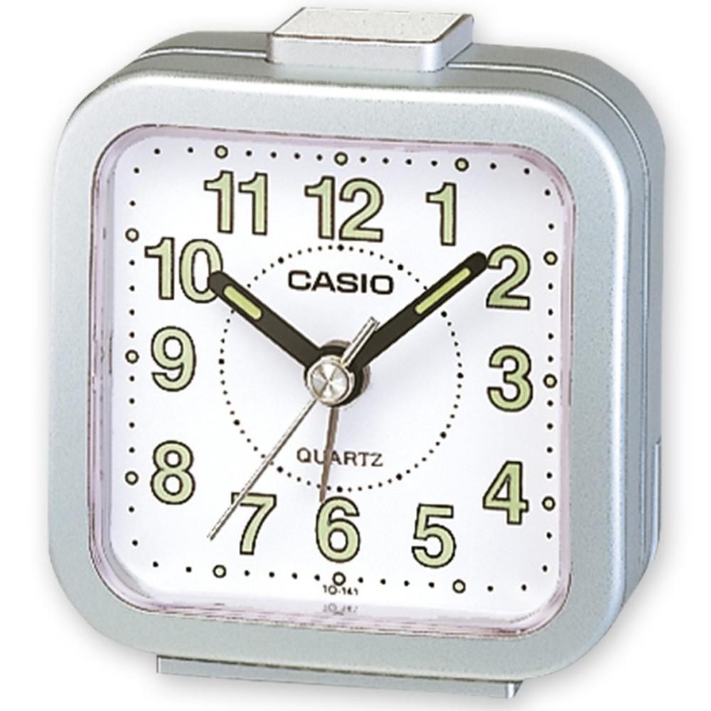 CASIO 桌上型指針鬧鐘(TQ-141-8)-銀