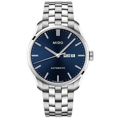 MIDO 美度 BELLUNA II 經典機械腕錶-銀X藍/42mm